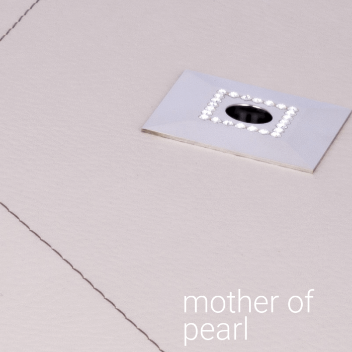 Timeless Details® X-Line Platter Square Leder Mother of Pearl